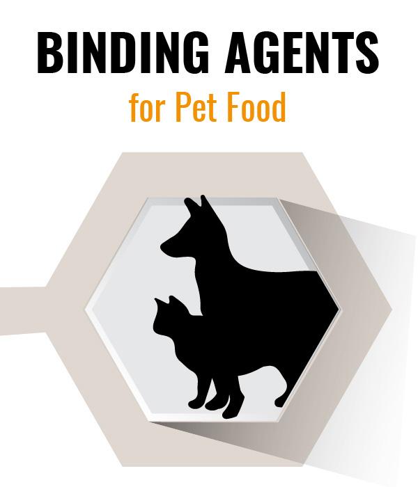 Pet food kibble binder for mass produced pet food pellets